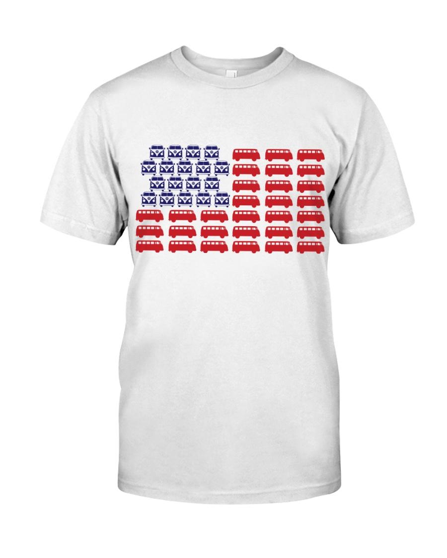 VW BUS Flag Classic T-Shirt