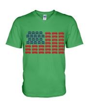 VW BUS Flag V-Neck T-Shirt thumbnail