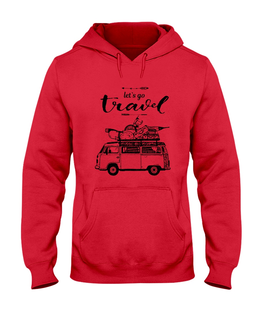 Let's Go Travel  Hooded Sweatshirt