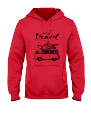 Let's Go Travel  Hooded Sweatshirt front