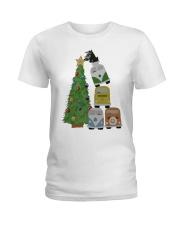 VW BUS  Tree Ladies T-Shirt thumbnail