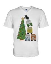 VW BUS  Tree V-Neck T-Shirt thumbnail