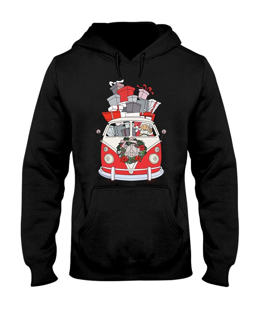 VW BUS Santa Claus Hooded Sweatshirt