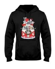 VW BUS Santa Claus Hooded Sweatshirt front