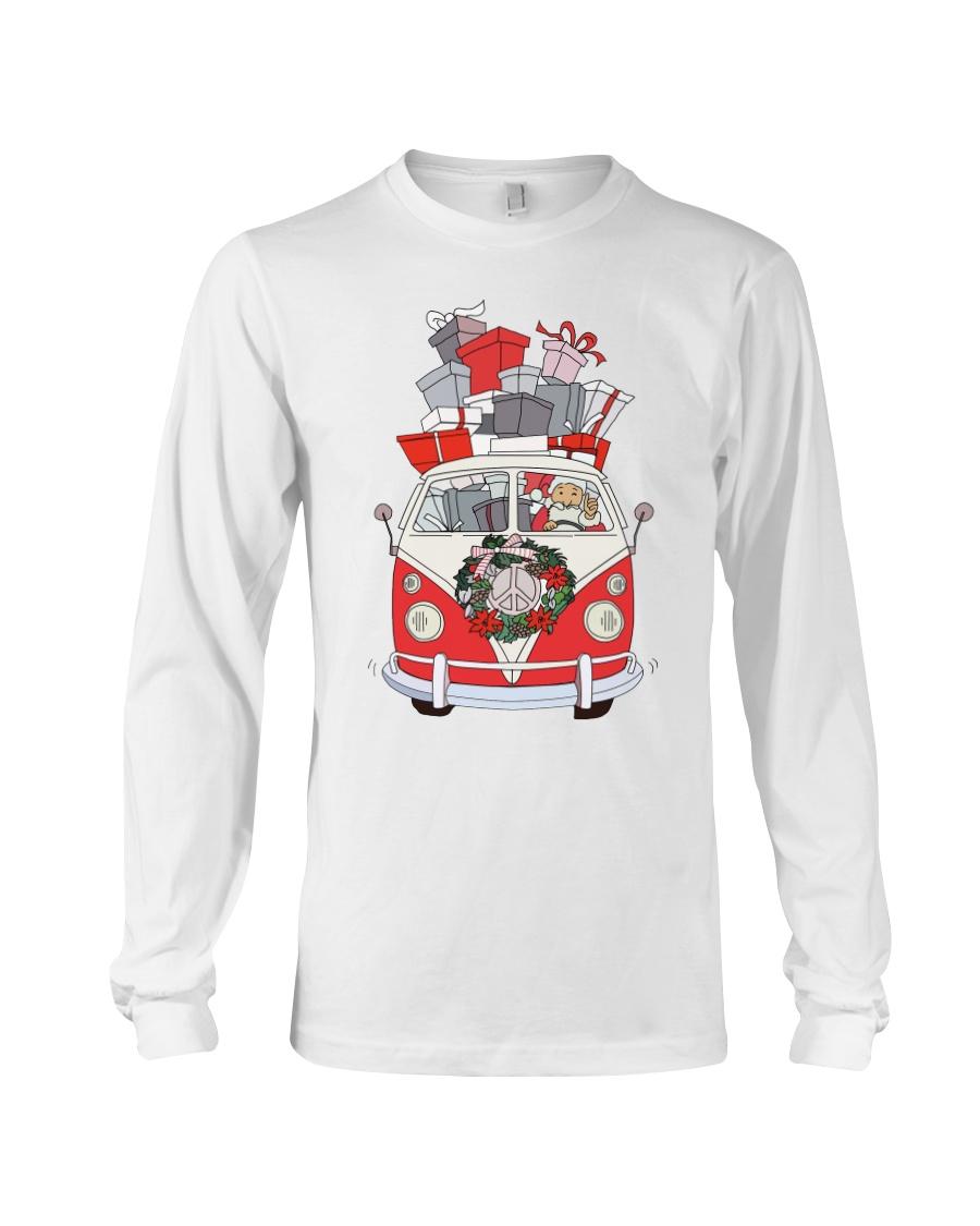 VW BUS Santa Claus Long Sleeve Tee