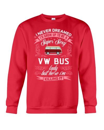 Super Sexy  VW Bus  Lady