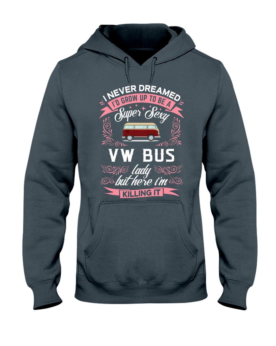 Super Sexy  VW Bus  Lady Hooded Sweatshirt