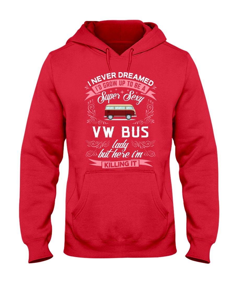 Super Sexy  VW Bus  Lady Hooded Sweatshirt