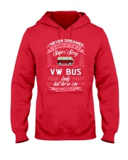 Super Sexy  VW Bus  Lady Hooded Sweatshirt front