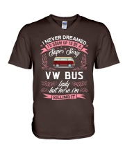Super Sexy  VW Bus  Lady V-Neck T-Shirt thumbnail