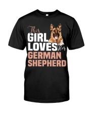 This girl loves german shepherd German shepherd Classic T-Shirt thumbnail