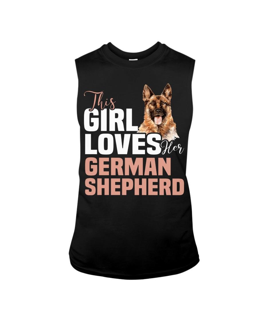 This girl loves german shepherd German shepherd Sleeveless Tee