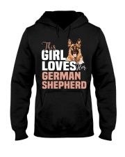 This girl loves german shepherd German shepherd Hooded Sweatshirt thumbnail