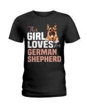 This girl loves german shepherd German shepherd Ladies T-Shirt thumbnail