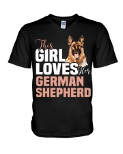 This girl loves german shepherd German shepherd V-Neck T-Shirt thumbnail
