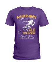 Run old women Ladies T-Shirt thumbnail