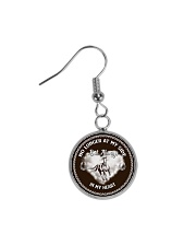 Horse-No Longer At My Side But Always In My Heart Circle Earrings thumbnail