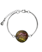 Horse - And She Lived Happily Ever After Metallic Circle Bracelet tile