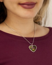 Horse - And She Lived Happily Ever After Metallic Heart Necklace aos-necklace-heart-metallic-lifestyle-1
