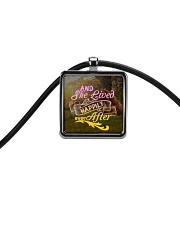 Horse - And She Lived Happily Ever After Cord Rectangle Necklace thumbnail