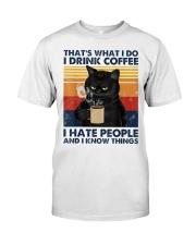 Cat Coffee T-shirt  Classic T-Shirt front