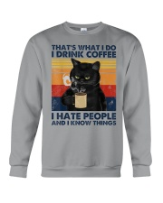 Cat Coffee T-shirt  Crewneck Sweatshirt thumbnail