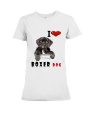 Boxer dog Premium Fit Ladies Tee thumbnail