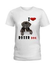 Boxer dog Ladies T-Shirt thumbnail