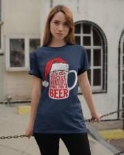 Santa Claus Beer Christmas Classic T-Shirt apparel-classic-tshirt-lifestyle-19