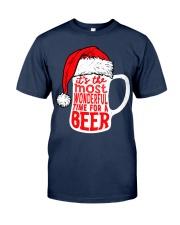 Santa Claus Beer Christmas Classic T-Shirt front