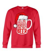 Santa Claus Beer Christmas Crewneck Sweatshirt thumbnail