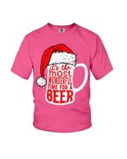 Santa Claus Beer Christmas Youth T-Shirt thumbnail