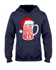 Santa Claus Beer Christmas Hooded Sweatshirt thumbnail