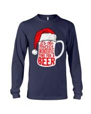 Santa Claus Beer Christmas Long Sleeve Tee thumbnail