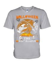 HalloWeen the Fish Reaper V-Neck T-Shirt thumbnail