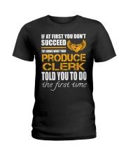 STICKER PRODUCE CLERK Ladies T-Shirt thumbnail