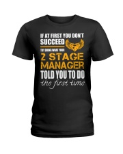 STICKER 2 STAGE MANAGER Ladies T-Shirt thumbnail
