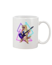 Guitar Cat - Rock kitty on an electric guitar  Mug front