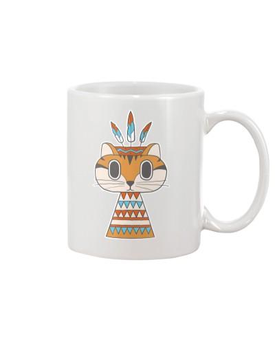 Native Cat American Retro