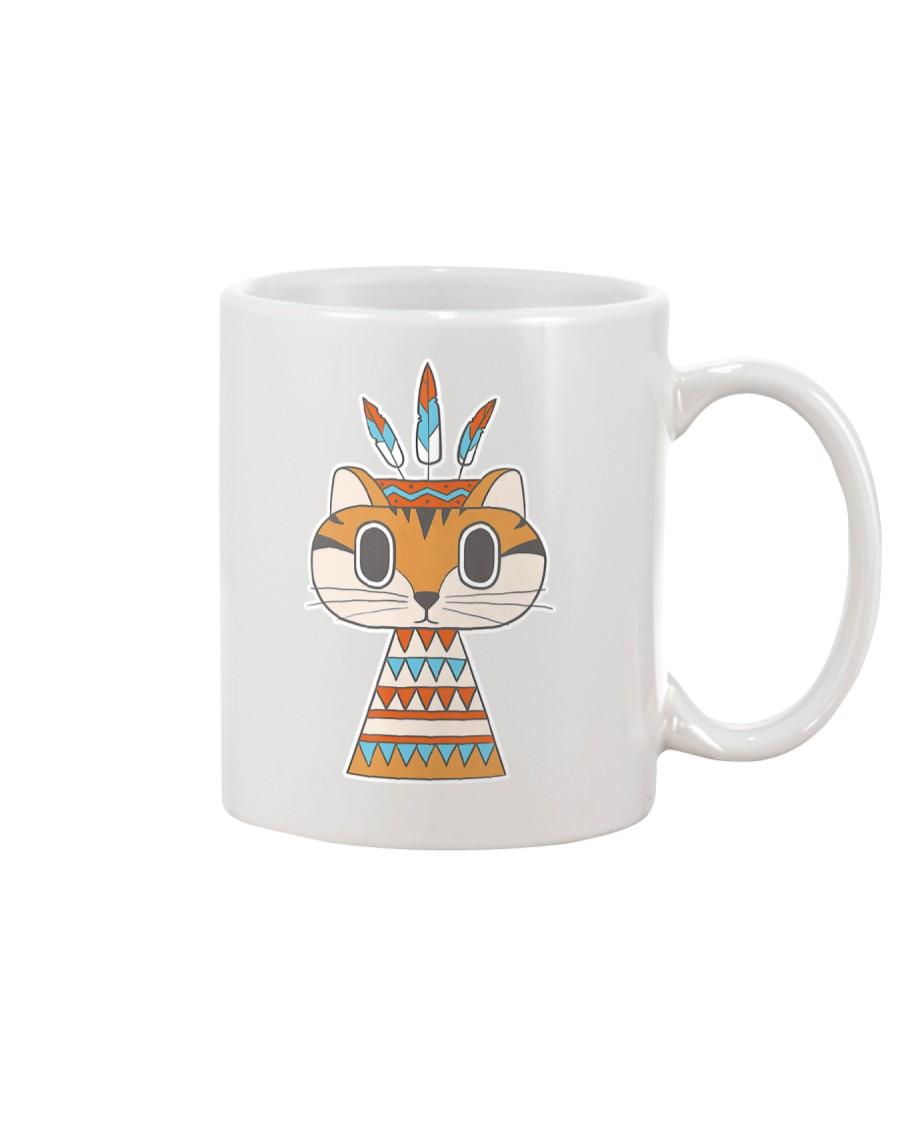 Native Cat American Retro  Mug