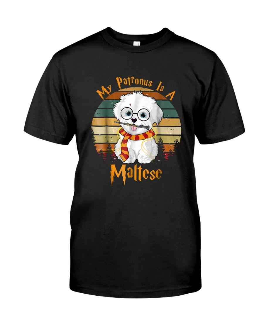 My Patronus is a Maltese Dog Christmas Pajama  Classic T-Shirt
