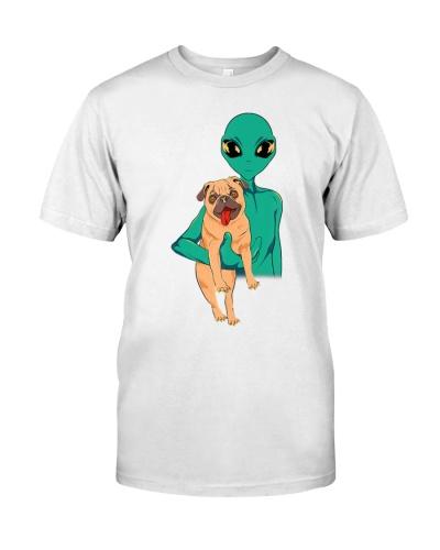 Funny Pug Alien Shirt - Trippy Alien Dog T-shirt
