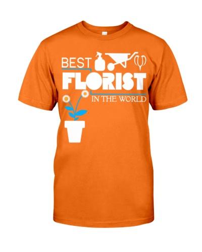 Best Florist In The World T Shirt  Mens Premium TS
