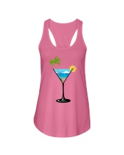 SUMMER IN A GLASS Ladies Flowy Tank front