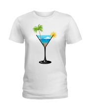 SUMMER IN A GLASS Ladies T-Shirt thumbnail
