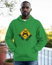 Gamer zone: Do not disturb Hooded Sweatshirt apparel-hooded-sweatshirt-lifestyle-front-20
