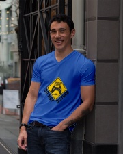 Gamer zone: Do not disturb V-Neck T-Shirt lifestyle-mens-vneck-front-1