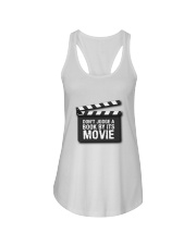 Don't judge the book by its movie Ladies Flowy Tank thumbnail