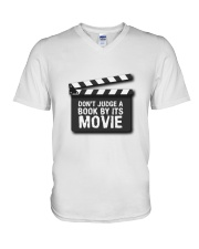 Don't judge the book by its movie V-Neck T-Shirt thumbnail