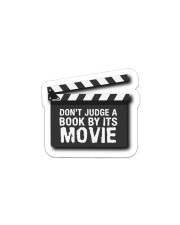 Don't judge the book by its movie Sticker - Single (Horizontal) thumbnail